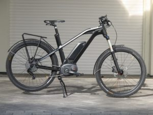 Side profile of a fat tire electric bike