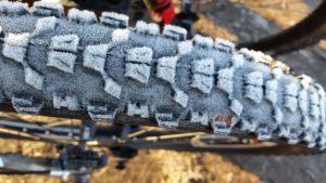Electric Bike Tires: Frosty Bike Tire With Knobbly Tread