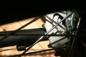 Bike sprockets and spokes