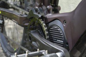Ebike motor and chain